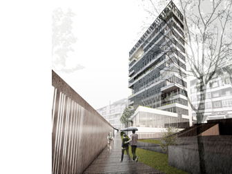 archs&graphs estudio de arquitectura jose antonio ruiz jimenez - Concurso Sede de CHMS en Orense. Promotor CHMS - Orense, España
