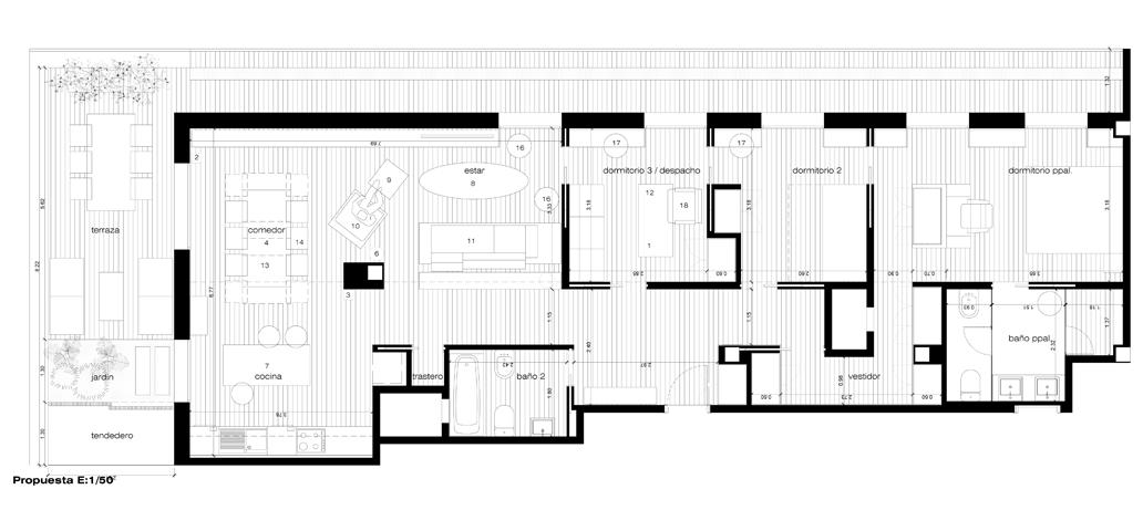 archs&graphs estudio de arquitectura jose antonio ruiz jimenez -  Housing reform in Calle Montesa - Calle Montesa. Madrid